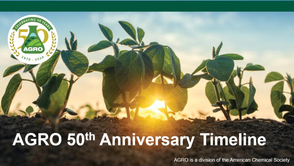 AGRO 50th Timeline